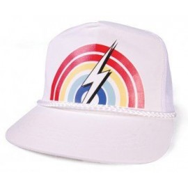 L.BOLT Rainbow Trucker Cap Black