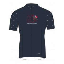 MALOJA OrtensiaM.WB 1/2 Short Sleeve Windstopper Bike Jersey mountain lake