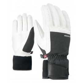 Ziener GAPION AS(R) PR glove ski alpine grey iron tec.white
