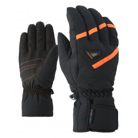 Ziener GARY AS(R) glove ski alpine black.poison orange