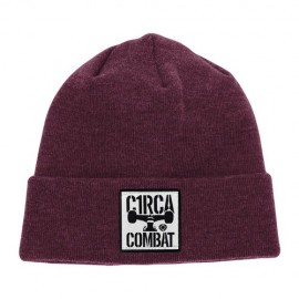 Circa Combat Patch Beanie Burgundy