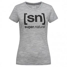 Super.natural W Essential ID Tee Ash Melange