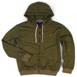 L.BOLT JUICE TRIBLEND ZIP HOODIE GREEN