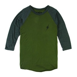 L.BOLT REC DENIM QUALITY BASEBALL TEE GREEN