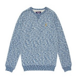 L.BOLT Mirror Essential Crewneck Sweatshirt AZURE BLUE