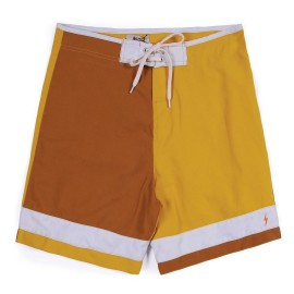 L.BOLT Triton Block Color Boardshort Nugget Gold