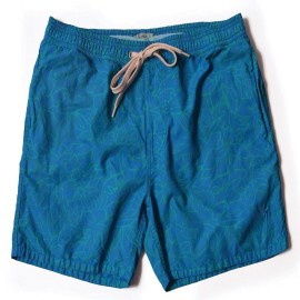 L.BOLT Tropical Turtle Bay Boardshort Directoire Blue
