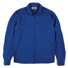 L.BOLT Printed Hemp Cotton LS Shirt Ensign Blue