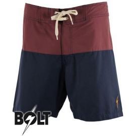 L.BOLT SURFARI BOARDSHORT RED