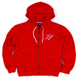 L.BOLT 1972 TRIBLEND ZIP HOODIE RED