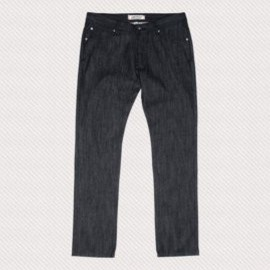 L1 SKINNY DENIM JEANS RAW BLACK