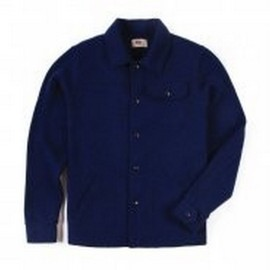 L.BOLT WOOL COTTON SNAP JACKET BLUE