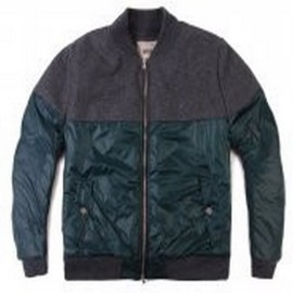 L.BOLT MELTON AND NYLON JACKET GREEN