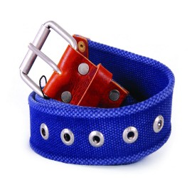 L.BOLT Canvas Belt. INSIGNIA BLUE