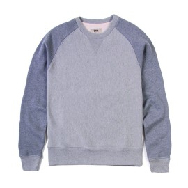 L.BOLT Two Tone French Terry Crewneck LIGHT GREY MELANGE