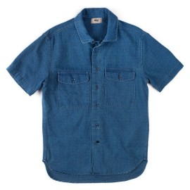 L.BOLT Indigo Check SS Shirt Dark Indigo