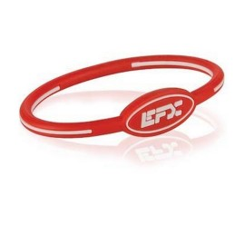 BRACELET EFX SILICONE OVAL WHITE RED